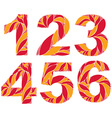 numeration decorated with seasonal orange autumn vector image