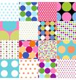 seamless patterns - polka dot set vector image vector image