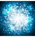 Abstract blue shiny tech background vector image