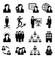 Business women icons vector image