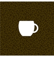 coffee background with white cup vector image