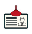 color silhouette cartoon identification card icon vector image