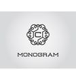 Compact Monogram Design Template with Letter vector image