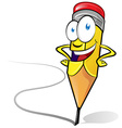 fun pencil cartoon vector image