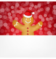 Gingerbread With Bokeh vector image