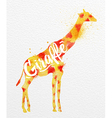 Painted animals giraffe vector image