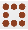 Set of Brown Stamps Distressed Stamp Texture vector image