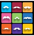 Trendy hipster Icons With Long Shadow vector image