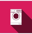 washing machine icon with long shadow vector image