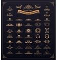 Luxury royal logo set Crest emblem heraldic vector image vector image