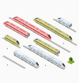 fast modern high speed train vector image