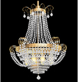 chandelier with crystal pendants vector image