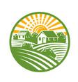 village houses emblem vector image