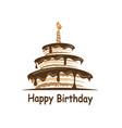 birthday cake design vector image vector image