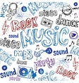 Seamless music background vector image
