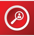 User details icon on red vector image