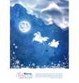 Santa Riding Sleigh Christmas Background vector image
