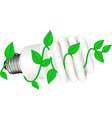 low-energy bulb with leafs vector image vector image
