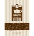 labels for coffee vector image vector image