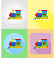 baby flat icons 15 vector image
