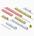fast modern high speed train vector image