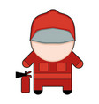 profession character fireman vector image