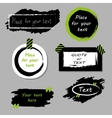 quote boxes collection Hand drawn frames vector image