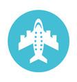 round icon airplane cartoon vector image
