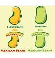set of beans and mexican beans vector image