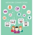 Social network connection concept vector image