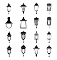 Street lamps icon set vector image