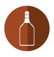 tequila bottle alcoholic beverage shadow vector image