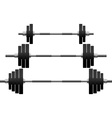 Set of weights vector image