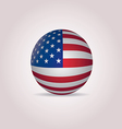 United States Flag sphere vector image vector image