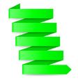 Green paper arrow vector image