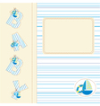 Baby shower with ship vector image