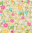 summer pattern Butterfly and Flower vector image
