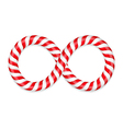 Candy Canes Infinity vector image
