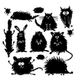Funny stylized animals collection Sketch for your vector image vector image
