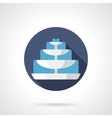 Tiered fountain flat color round icon vector image