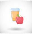 apple juice flat icon vector image