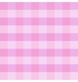 Pink checkered cloth vector image