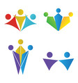 set of teamwork logos vector image