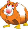 Hamster cartoon vector image