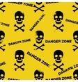 Danger zone seamless pattern vector image