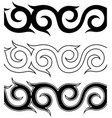 black and white tattoo ornament pattern set vector image