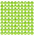 100 internet marketing icons set green circle vector image vector image