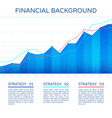 growth chart economy concept statistics business vector image vector image