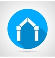 Flat icon for gates arch vector image