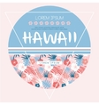 Hawaii country club print vector image